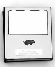 More details for badger design silver personalised photo album free engraving 016