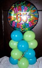 """AGE 65 65TH BIRTHDAY 18"""" FOIL BALLOON TABLE DISPLAY DECORATION AIR FILL T & L"""