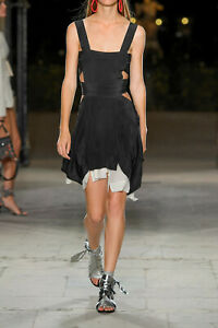 Runway New Isabel Marant Oury Cutout Handkerchief Silk Short Mini Dress S