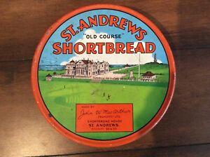 "Rare Vintage St. Andrews ""Old Course"" Shortbread Tin John W. MacArthur Bakers"
