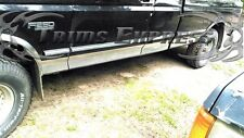 """1987-1996 Ford F-Series Pickup Extended Cab Long Bed Chrome Rocker Panel Trim-6"""""""