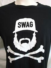 """Swag"" Black Hipster T Shirt Men Size L"