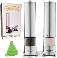 BBQ SPECIAL!! Electric Salt and Pepper Grinder Set Stainless Steel. FREE SHIP!!