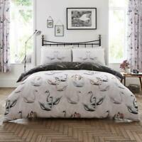 Luxury Swan Duvet Set 3 PCs Duvet Cover Set Quilt Cover Set Bedding Set Bed Set
