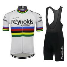 Retro Reynolds Aluminio Cycling Jerseys and Bib Short Cycling Kit