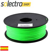 ABS Filamento 1.75mm 1kg verde fluorescente Impresora 3D Fluo-Green I0257