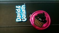 David & Goliath coin purse 'Cupcakes are evil' Pink NWT