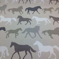 Clarke e Clarke STAMPEDE cavalli tessuto di cotone per Tenda / Tappezzeria, Biancheria