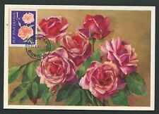 BULGARIA MK 1963 FLORA ROSEN ROSE ROSES MAXIMUMKARTE CARTE MAXIMUM CARD MC d5696