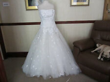 Maggie Sottero Couture wedding gown satin/tulle/lace beaded size 12 champagne