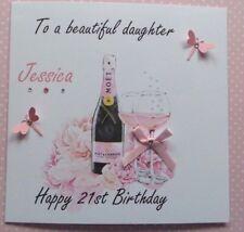 HANDMADE PERSONALISED BIRTHDAY CARD  18TH 21ST 40th DAUGHTER SISTER FRIEND MUM