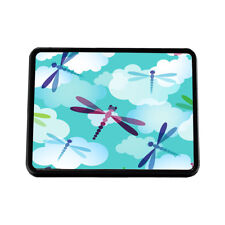 Blue And Pink Dragonfly Auto Car License Plate Frame Seat Belt Cover Gift Set