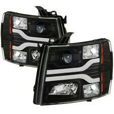 Spyder Auto Version 3 Projector Headlights Black for Chevy Silverado 1500 2500HD