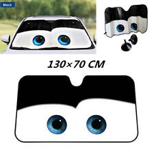 Universal Big Eye Cars Front Auto Car Windshield Sun shade Sun Visor - Black New