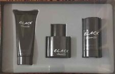 3pc Gift Set Kenneth Cole BLACK 1.7oz EDT & Shave Balm & Deodorant MEN NIB (533)