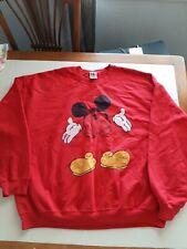 Mickey Mouse Official Junk Food x Disney Rare!Sweatshirt Red Vintage Sz Xl