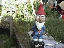 "cement garden knome / gnome each is handpainted 13"" x 4-1/2"" & made in the USA"