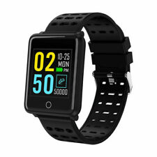 Black Digital Sport Smart Watch Blood Pressure Heartrate Monitor for iOS Android