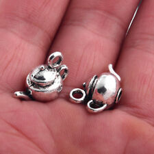 10x Kettle Tea Pot 3D Charm Tibetan Silver Beads Fit DIY Jewelry Making 18*10mm