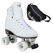 New Rookie Artistic Classic Figure Quad Roller Skates - White - Optional Bag!