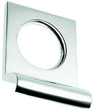 Polished Chrome Victorian Square Yale Lock Surround / Door Pull (BC237)