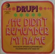 "7"" 1973 ! DRUPI : She Didn´t Remember My Name /MINT-"