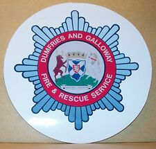 Fire and Rescue Service Dumfries and Galloway vinyl sticker personalised..
