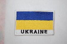 Ecusson brodé patch thermocollant Drapeau UKRAINE