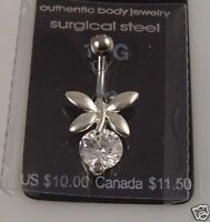 butterfly belly button navel ring piercing naval crystal navel