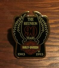 HARLEY-DAVIDSON MOTORCYCLES 1903-1993 90th ANNIVERSARY Wings PIN, The Reunion