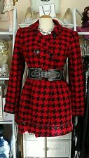 Candie's Womens Checkered Pea Coat Size L