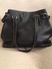Genuine PRADA Black Pebbled Leather Shopping Tote Bag **No Reserve**