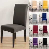 1/4/6/8/20Pcs Stretch Dining Room Chair Seat Covers Wedding Banquet Slipcovers