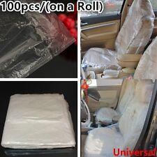 DISPOSABLE PLASTIC CAR SEAT COVERS VEHICLE PROTECTORS MECHANIC VALET ROLL 100pcs