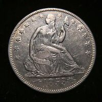 1853 O Arrows Rays Seated Liberty Half Dollar 50c AU About Uncirculated Key Date