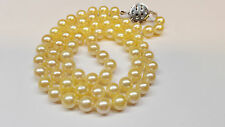 Collier di perle oro 585 CHIUSURA PERLE COLLANA DI PERLE AKOYA ZAFFIRO L 60 cm