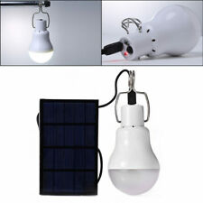 15W Solar Panel Power LED Bulb Light Portable Outdoor Camping Energy Lamp