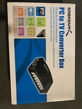 TV RCA Composite S-Video AV In To PC VGA LCD Out Converter Adapter Box VI