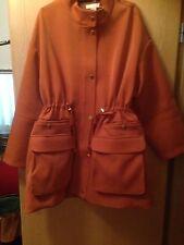 H M H&M Jacke Mantel Blogger Hipster 44 46 48 50 52 Orange Neu Neopren Gold