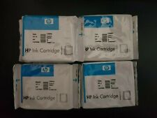 Genuine & Sealed HP 10 & 11 Ink Cartridge Set x 4 - C4836A C4837A C4838A C4844A