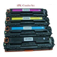 Set of 4 PK CE320A Laser Toner For HP128A Color LaserJet Pro CM1415FNW CP1525NW