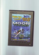 TYCOON TRIPLE PACK - DEEP SEA TYCOON 1 & 2 & MOON TYCOON - 3 PC GAMES - VGC