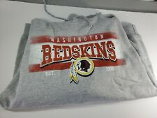 Washington Redskins Nfl Apparel Mens Gray Hoodie Sweatshirt Size Large