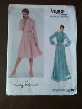 Vogue American Designer Dress Jerry Silverman 2782 Sewing Pattern UNCUT Sz 12