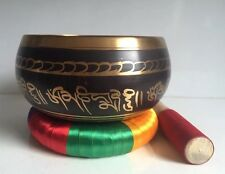 Very Large 8''  Tibetan Singing Bowl & Cushion Ring / YOGA/ Meditation/Gong
