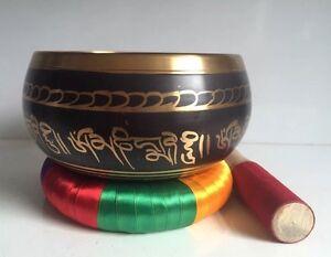Large 6.2''  Tibetan Singing Bowl & Cushion Ring / YOGA/ Meditation/Gong