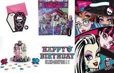 35pc Monster High Birthday Banner, Invites, Loot Bags, Backdrop, Table Topper