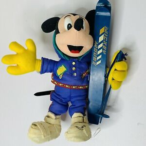 Vintage Mickey Mouse Skiing Ski Young Epoch Disney 90s