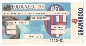 BOLOGNA - RUCH CHORZOW 1998/99 UEFA UIC Intertoto Cup ticket