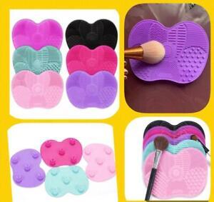 MAKE UP BRUSH CLEANER MAT/PAD/SCRUBBER BLACK PINK PURPLE SPONGE FOUNDATION GEL